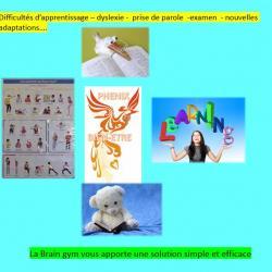 dont la Brain Gym ou Edu-k, méthode liée aux problèmes d'apprentissage,  d'adaptation,  de dyslexie